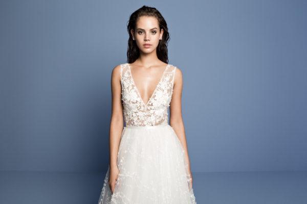 Mira Couture Daalarna Ocean 401 Wedding Dress Bridal Gown Chicago Boutique Detail