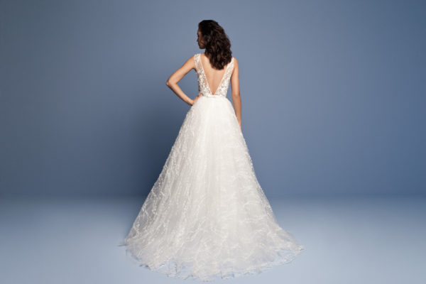 Mira Couture Daalarna Wedding Dress Bridal Gown Chicago Boutique Back