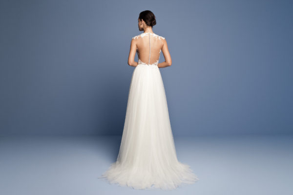 Mira Couture Daalarna Ocean 415 Wedding Dress Bridal Gown Chicago Boutique Back