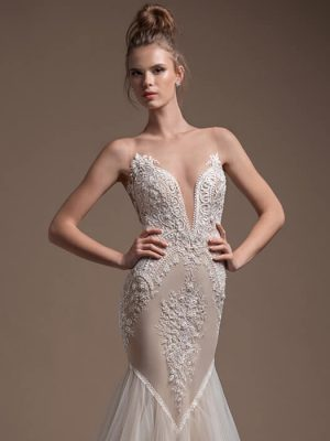 Mira Couture Elihav Sasson FG-049 Wedding Gown Bridal Dress Chicago Boutique Front