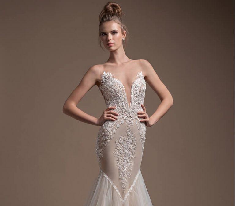 Mira Couture Elihav Sasson FG-049 Wedding Gown Bridal Dress Chicago Boutique Front