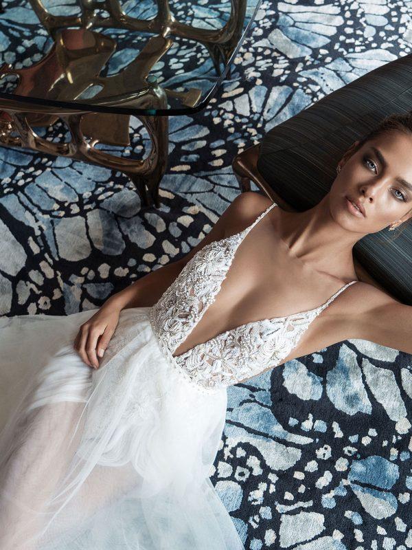 Mira Couture Elihav Sasson VJ009 Wedding Gown Bridal Dress Chicago Boutique Front