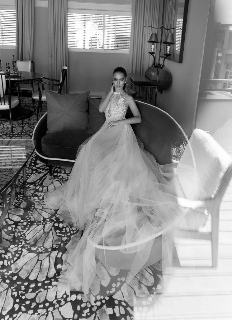 Mira Couture Elihav Sasson VJ011 Wedding Gown Bridal Dress Chicago Boutique Full Skirt