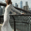 Mira Couture Flora Gabrielle Wedding Gown Bridal Dress Chicago Boutique Side