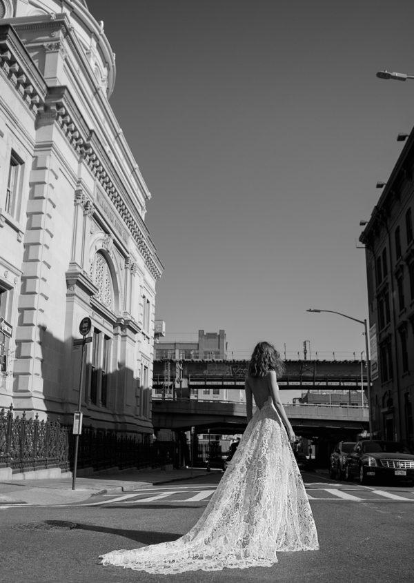 Mira Couture Flora Liv Wedding Gown Bridal Dress Chicago Boutique Back