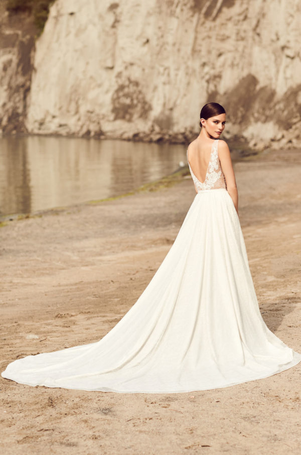 Mira Couture Mikaella 2114 Wedding Dress Bridal Gown Chicago Boutique Back