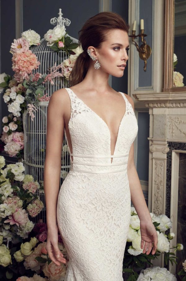 Mira Couture Mikaella 2154 Wedding Dress Bridal Gown Chicago Boutique Detail