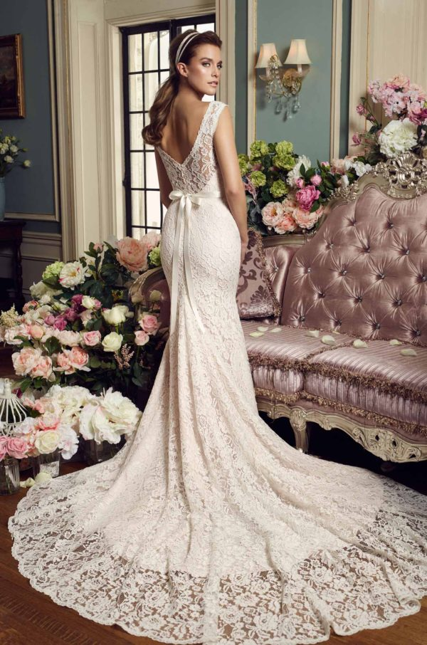 Mira Couture Mikaella 2157 Wedding Dress Bridal Gown Chicago Boutique Back