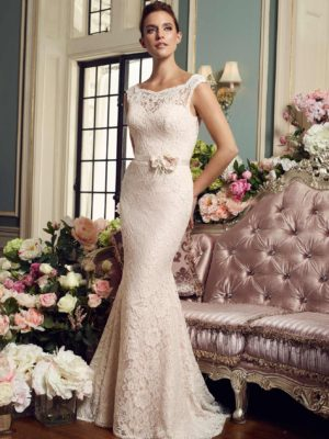Mira Couture Mikaella 2157 Wedding Dress Bridal Gown Chicago Boutique Front