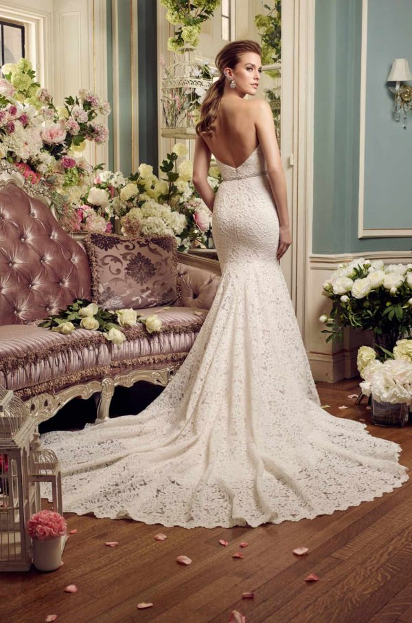 Mira Couture Mikaella 2165 Wedding Dress Bridal Gown Chicago Boutique Back