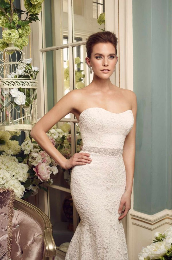 Mira Couture Mikaella 2165 Wedding Dress Bridal Gown Chicago Boutique Detail