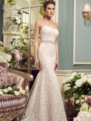 Mira Couture Mikaella 2165 Wedding Dress Bridal Gown Chicago Boutique Front