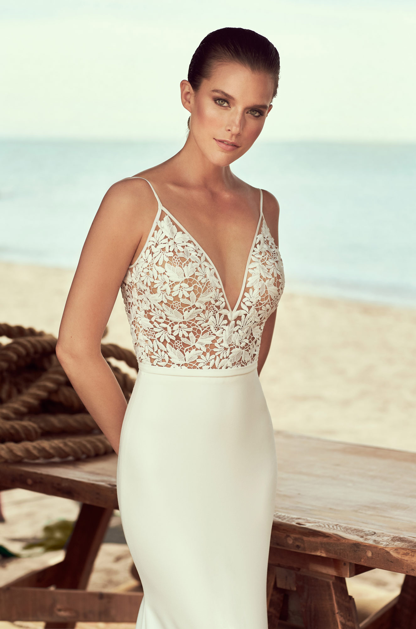 Mira Couture Mikaella 2190 Wedding Dress Bridal Gown Chicago Boutique Detail