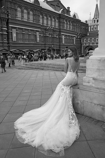 Mira Couture Neta Dover 1100118 Wedding Dress Bridal Gown Chicago Boutique Back