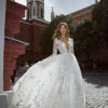 Mira Couture Neta Dover 1101318 Wedding Dress Bridal Gown Chicago Boutique Front
