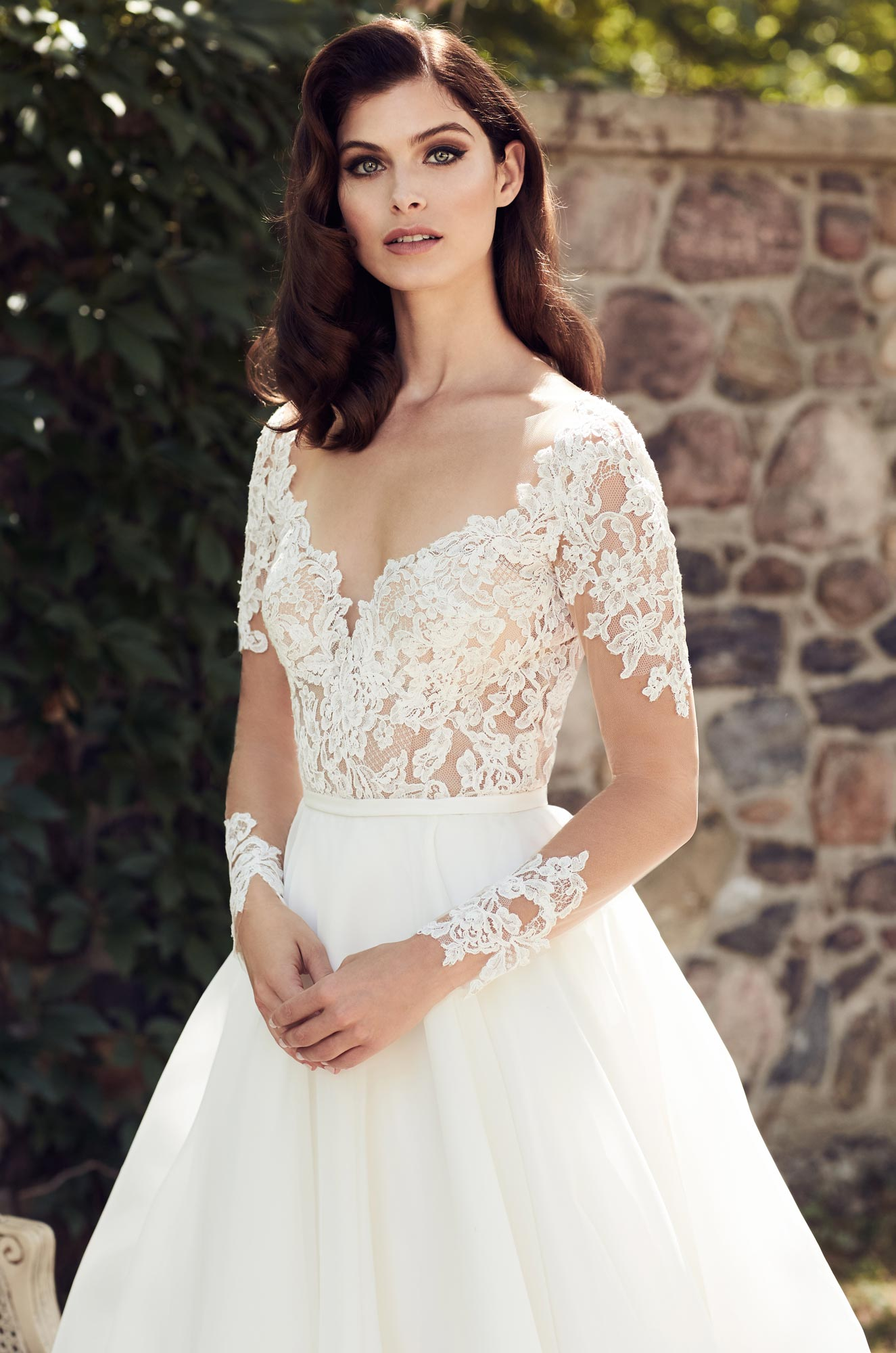 4744 by paloma blanca for Wedding dress boutiques chicago