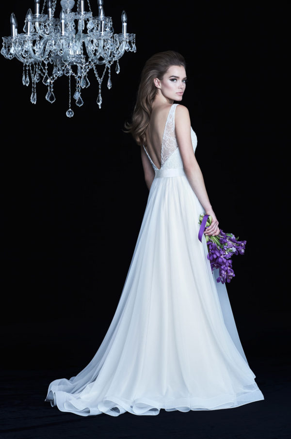Mira Couture Paloma Blanca 4755 Wedding Dress Bridal Gown Chicago Boutique Back