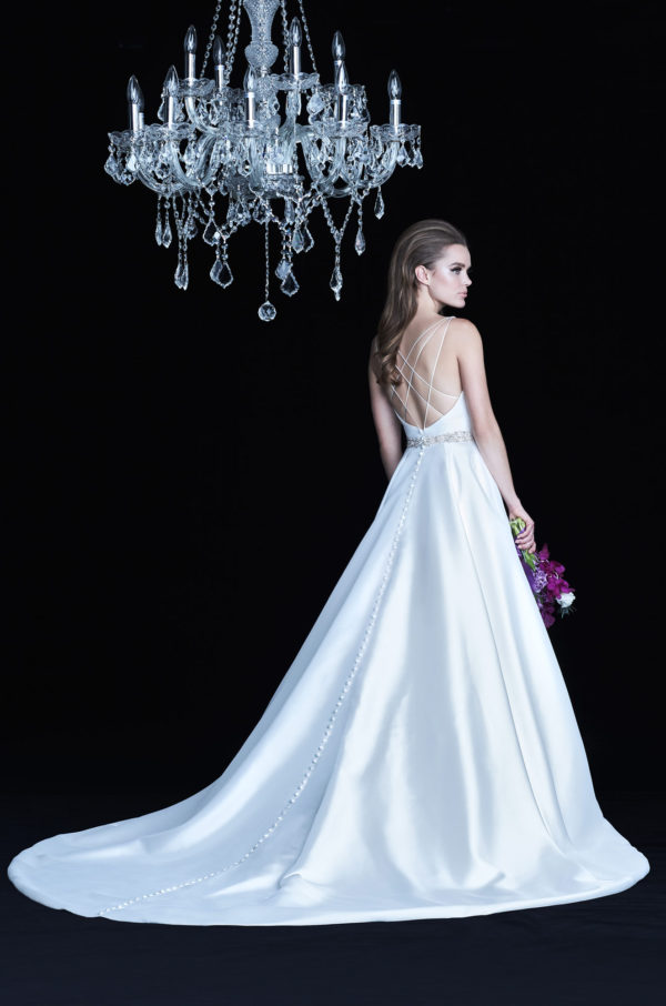 Mira Couture Paloma Blanca 4764 Wedding Dress Bridal Gown Chicago Boutique Back