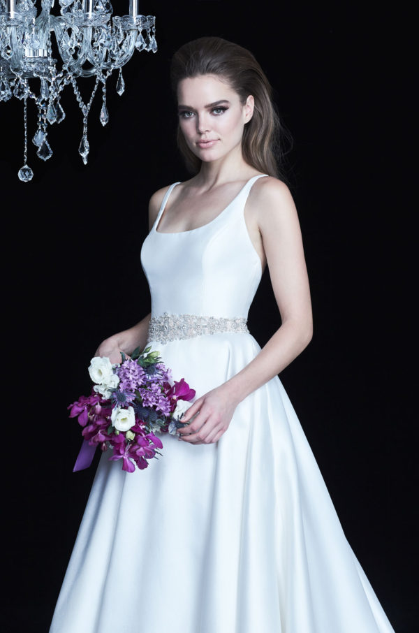 Mira Couture Paloma Blanca 4764 Wedding Dress Bridal Gown Chicago Boutique Detail