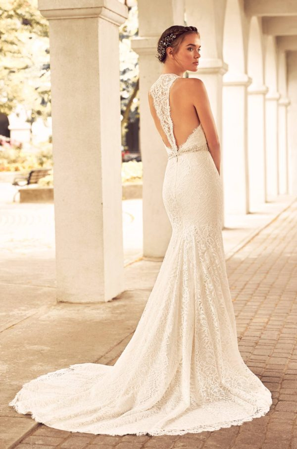 Mira Couture Paloma Blanca 4795 Wedding Dress Bridal Gown Chicago Boutique Back