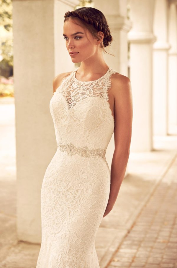 Mira Couture Paloma Blanca 4795 Wedding Dress Bridal Gown Chicago Boutique Detail