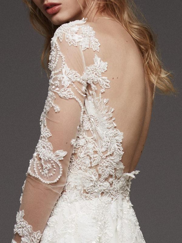 Mira Couture Atelier Pronovias Hanouka Wedding Dress Bridal Gown Chicago Boutique Back Detail
