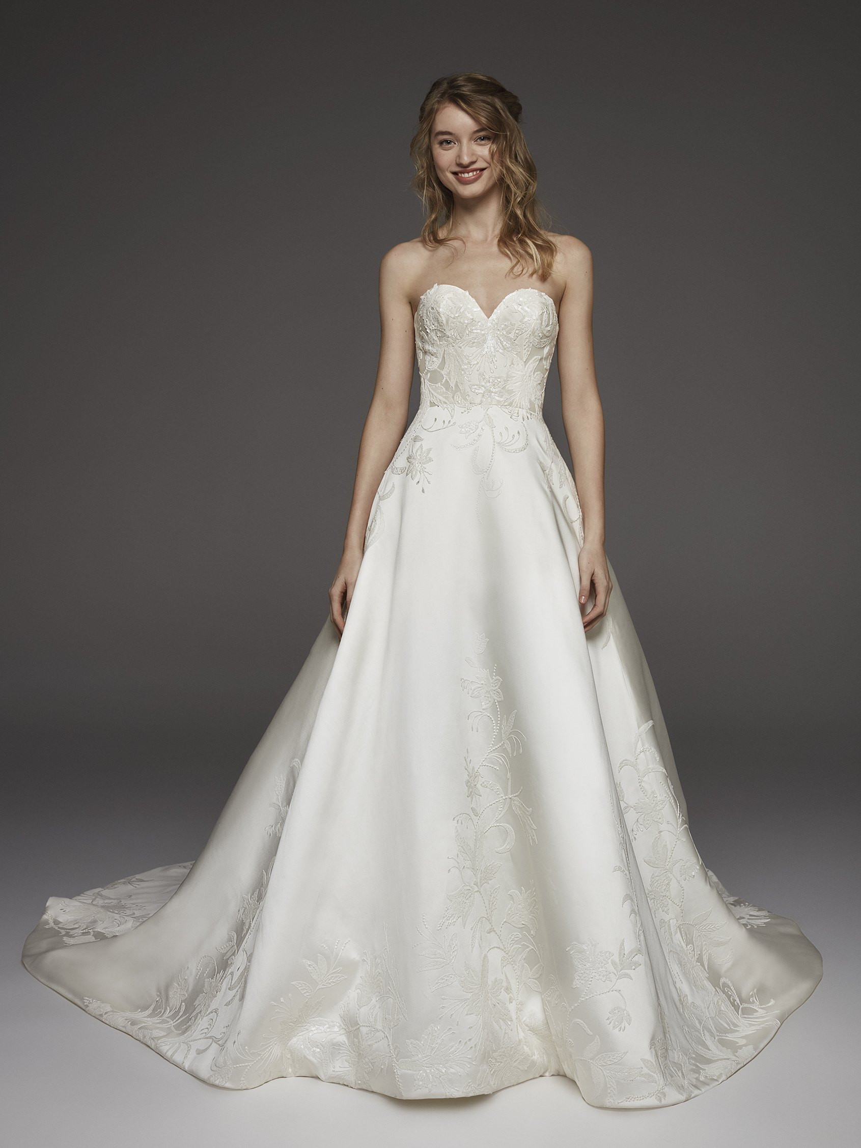Mira Couture Atelier Pronovias Hela Wedding Dress Bridal Gown Chicago Boutique Front