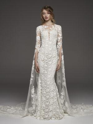 Mira Couture Atelier Pronovias Himalaya Wedding Dress Bridal Gown Chicago Boutique Front