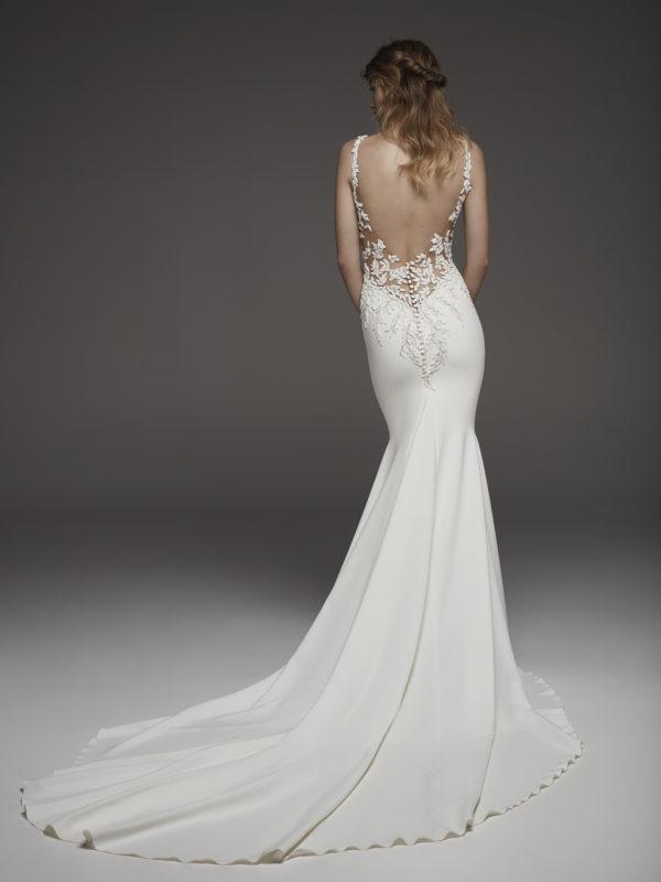 Mira Couture Atelier Pronovias Hosta Wedding Dress Bridal Gown Chicago Boutique Back