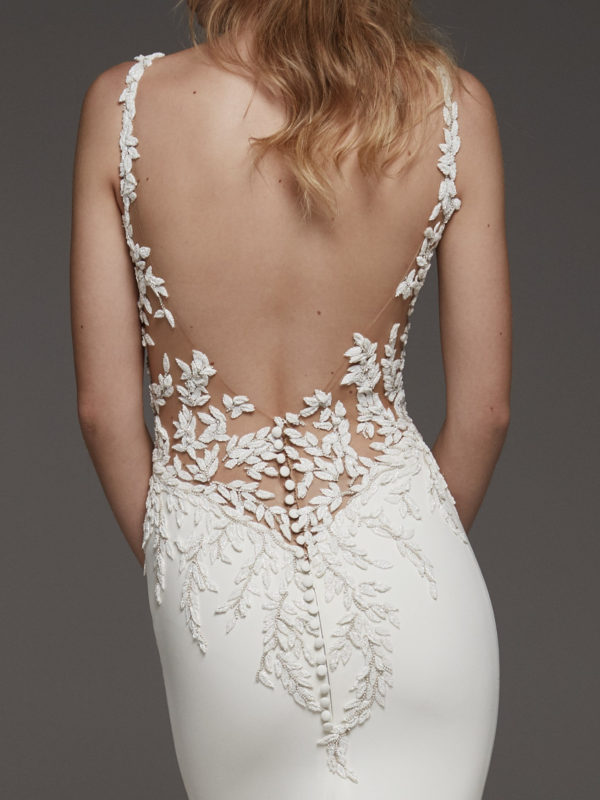 Mira Couture Atelier Pronovias Hosta Wedding Dress Bridal Gown Chicago Boutique Detail