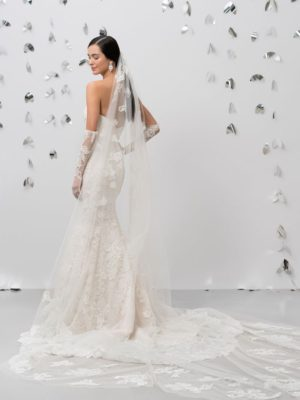 Mira Couture Justin Alexander Veil 99018 Chicago Boutique