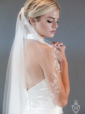 Mira Couture Justine M Couture Parisienne Bridal Veil Chicago Boutique Detail