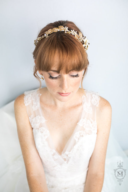 Mira Couture Justine M Couture Sea Sprite Diadem Chicago Boutique Detail