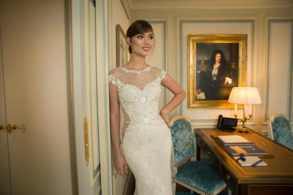 Mira Couture Netta Benshabu Abigail Wedding Dress Bridal Gown Chicago Boutique Front