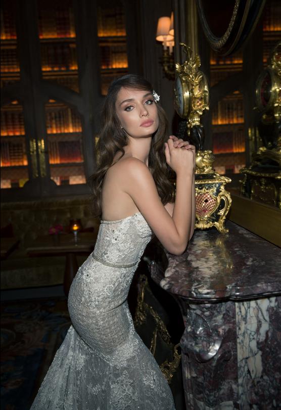 Mira Couture Netta Benshabu Ashton Wedding Dress Bridal Gown Chicago Boutique Detail