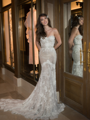 Mira Couture Netta Benshabu Ashton Wedding Dress Bridal Gown Chicago Boutique Full