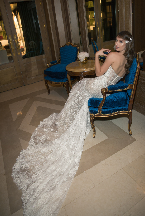 Mira Couture Netta Benshabu Ashton Wedding Dress Bridal Gown Chicago Boutique Side (2)