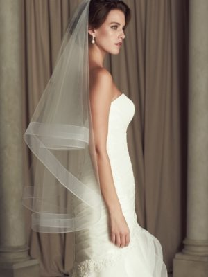 Mira Couture Paloma Blanca 443F Veil Chicago Boutique