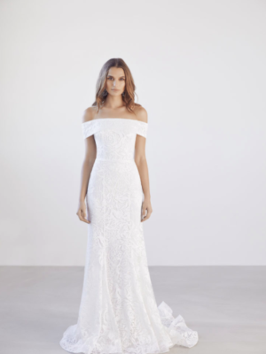 Mira Couture Suzanne Harward Echo Bridal Gown Wedding Dress Chicago Boutique Front