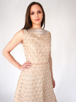 Mira Couture Blush Criss Cross Custom Design Chicago Boutique