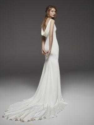 Mira Couture Atelier Pronovias Hispalis Wedding Dress Bridal Gown Back