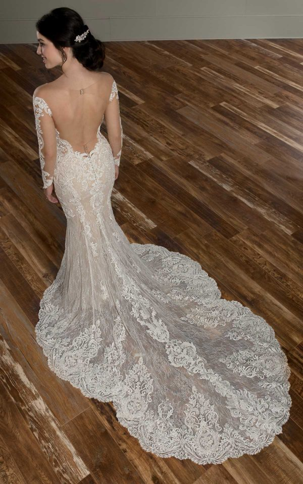 Mira Couture Martina Liana 1015 Wedding Dress Bridal Gown Chicago Boutique Custom Design Train