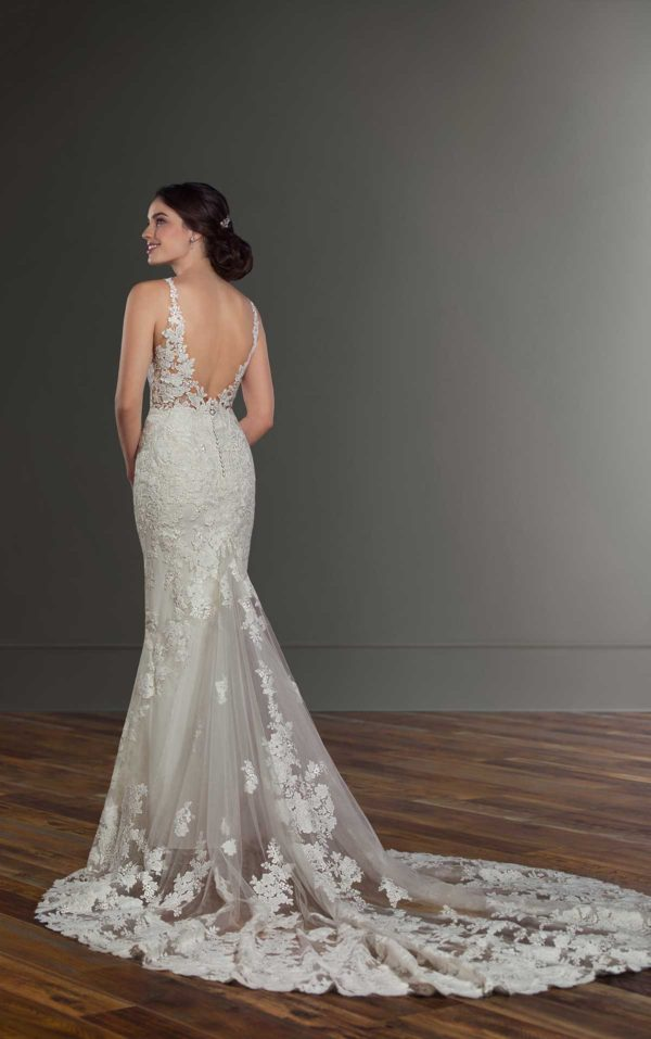 Mira Couture Martina Liana 1030 Wedding Dress Bridal Gown Chicago Boutique Custom Design Full Back