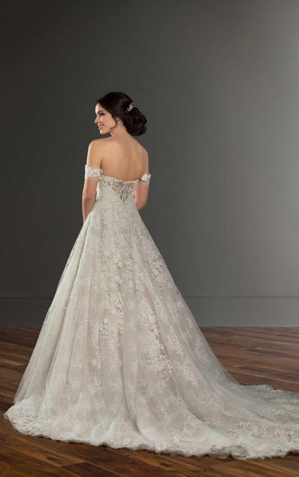Mira Couture Martina Liana 999 Wedding Dress Bridal Gown Chicago Boutique Custom Design Back Full