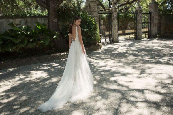 Mira Couture Netta Benshabu Israeli Designer Andriana Wedding Dress Bridal Gown Chicago Boutique Back