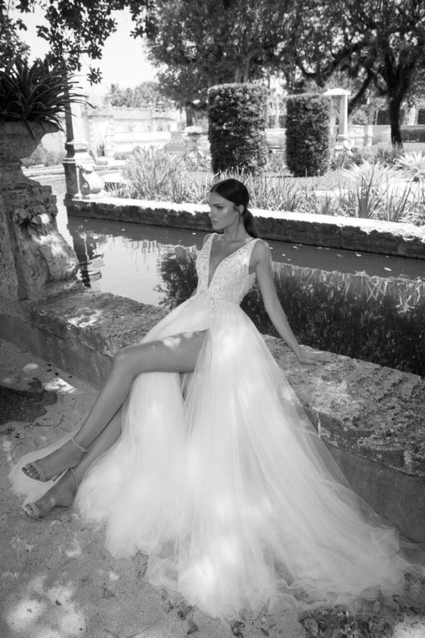 Mira Couture Netta Benshabu Israeli Designer Andriana Wedding Dress Bridal Gown Chicago Boutique Full
