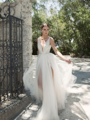 Mira Couture Netta Benshabu Israeli Designer Andriana Wedding Dress Bridal Gown Chicago Boutique Full Front