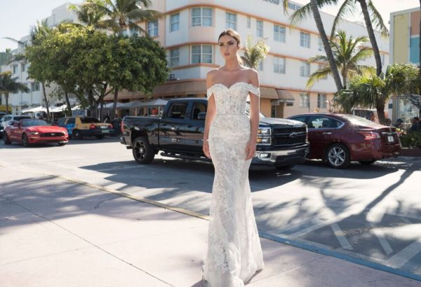 Mira Couture Netta Benshabu Israeli Designer Eve Wedding Dress Bridal Gown Chicago Boutique Front