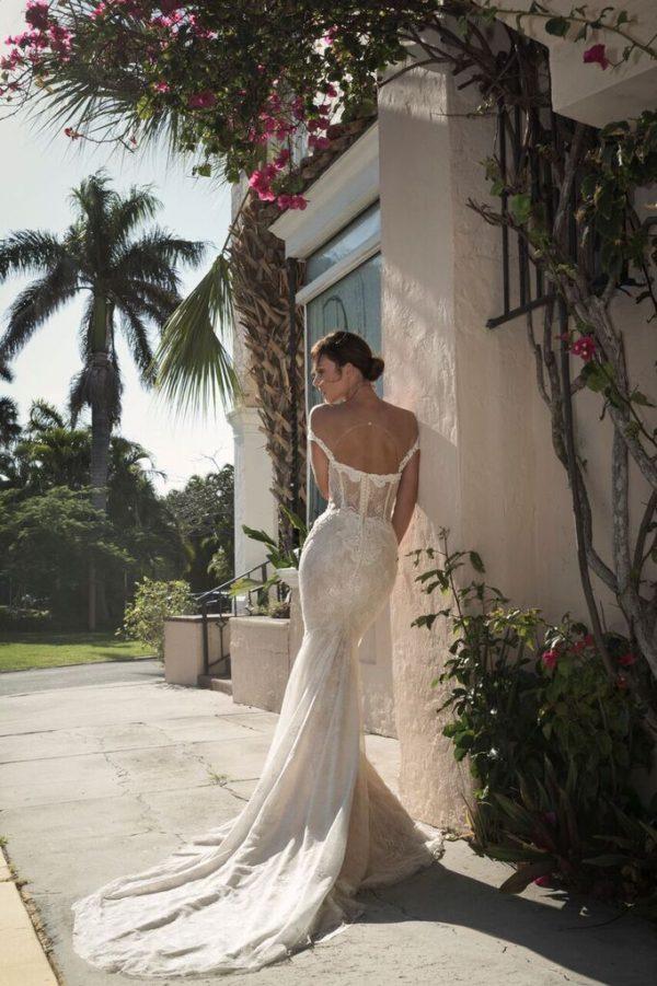 Mira Couture Netta Benshabu Israeli Designer Gemma Wedding Dress Bridal Gown Chicago Boutique Back