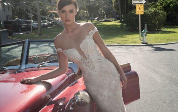 Mira Couture Netta Benshabu Israeli Designer Gemma Wedding Dress Bridal Gown Chicago Boutique Front
